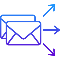 Icono sobre mensaje